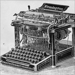 Sir Patrick mores typewriter