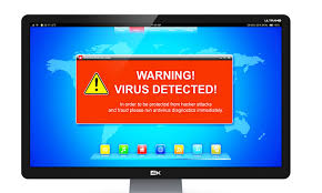 Type of fake virus alert